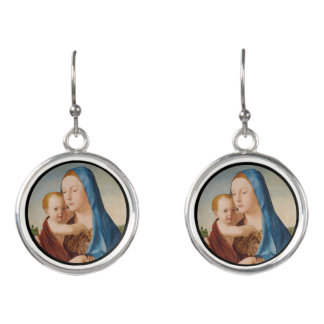 Portrait Mary and Baby Jesus Earrings