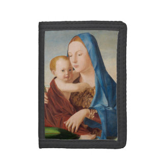 Portrait Mary and Baby Jesus Tri-fold Wallet