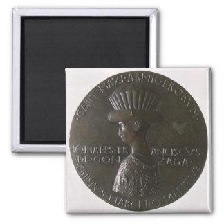 Portrait medal depicting Gianfrancesco Gonzaga (13 Square Magnet