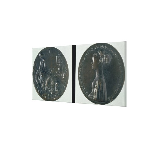 Portrait medal, obverse depicting Cecilia Gonzaga, Gallery Wrapped Canvas