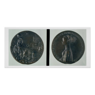 Portrait medal obverse depicting Cecilia Gonzaga Poster