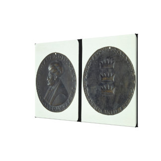Portrait medal, obverse depicting Sultan Mehmed II Gallery Wrapped Canvas