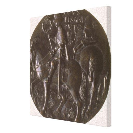 Portrait medal, reverse depicting Gianfrancesco Go Gallery Wrapped Canvas