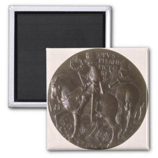 Portrait medal, reverse depicting Gianfrancesco Go Square Magnet
