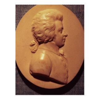 Portrait medallion of Wolfgang Amadeus Mozart Postcard
