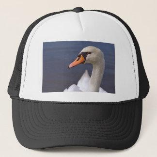 Portrait mute swan trucker hat