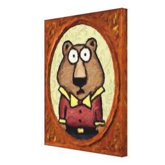 Portrait of a Bear Canvas Prints