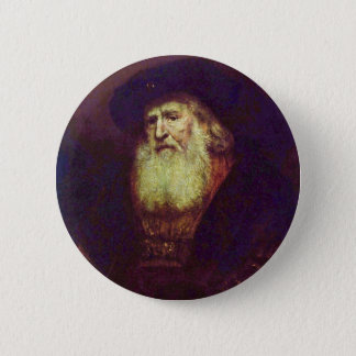 Portrait Of A Bearded Old Man By Rembrandt 6 Cm Round Badge
