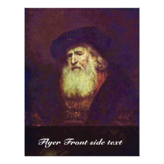 Portrait Of A Bearded Old Man By Rembrandt Custom Flyer