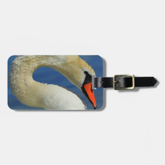 Portrait of a beautiful swan luggage tag