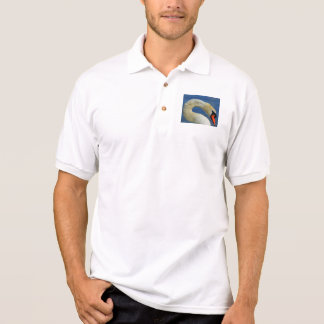 Portrait of a beautiful swan polo shirt