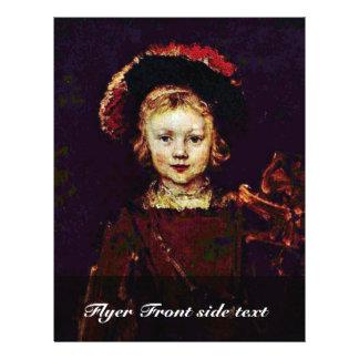 Portrait Of A Boy (Titus Rembrandt'S Son?) Full Color Flyer