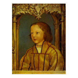 Portrait of a Boy with Blonde Hair by Hans Holbein Postcard
