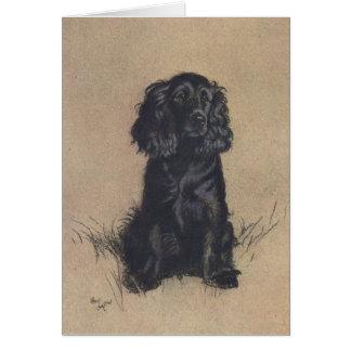 Portrait of a Cocker Spaniel, Card