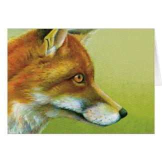 Portrait of a fox everyday art card