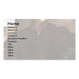 Portrait Of A Gentleman By Lotto Lorenzo (Best Qua Pack Of Standard Business Cards