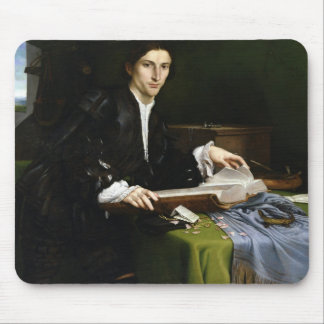 Portrait of a Gentleman in his Study, 1528-30 (oil Mousepad