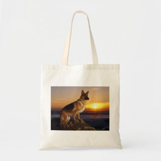 Portrait of a German Shepherd dog or Alsatian Tote Bag