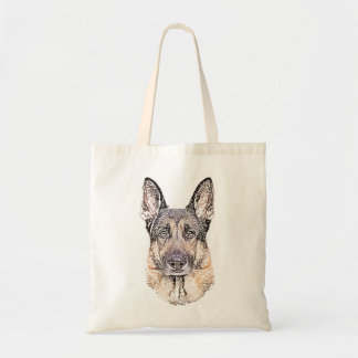 Portrait of a German Shepherd Dog Sketched Art