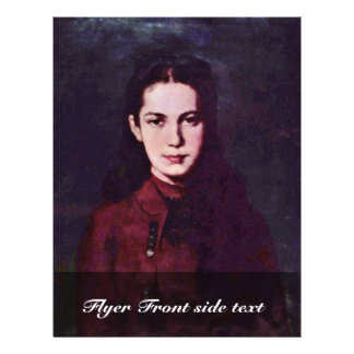 Portrait Of A Girl By Grigorescu Nicolae Flyer Design