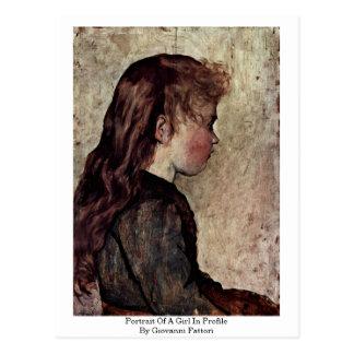 Portrait Of A Girl In Profile By Giovanni Fattori Post Card