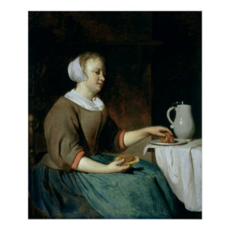 Portrait of a Girl Seated at a Table Print