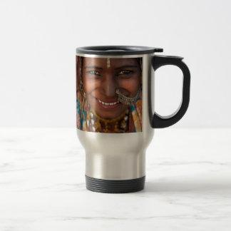 Portrait of a India Rajasthani woman Travel Mug