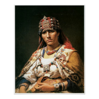 Portrait of a Kabylie Woman, Algeria, 1875 Poster