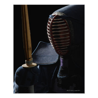 Portrait of a Kendo Fencer 6 Poster