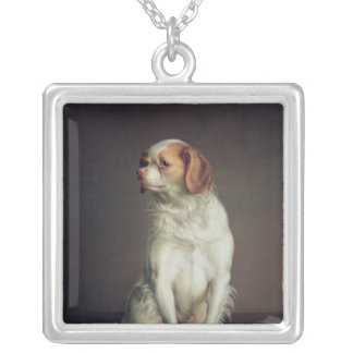Portrait of a King Charles Spaniel Silver Plated Necklace