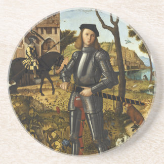 Portrait of a Knight by Vittore Carpaccio Coaster