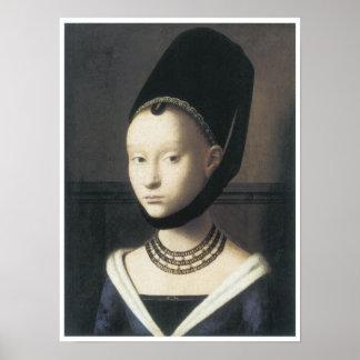 Portrait of a Lady, 1470 , Petrus Christus Poster