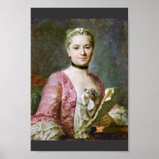 Portrait Of A Lady By Maurice Quentin De La Tour ( Poster