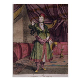 """Portrait of a lady from the """"Book of Designs"""" Postcard"""