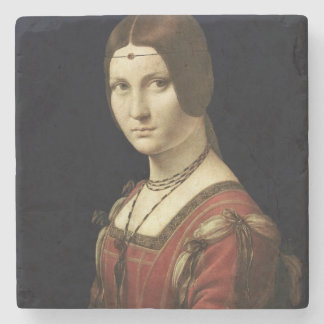 Portrait of a Lady from the Court of Milan Stone Coaster