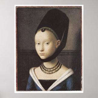 Portrait of a Lady, Petrus Christus Poster
