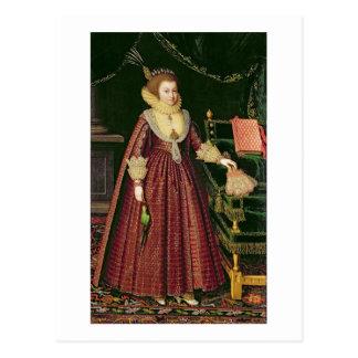 Portrait of a Lady, Possibly Elizabeth, Countess o Postcard