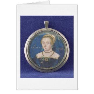 Portrait of a Lady, possibly Lady Jane Grey, c.154 Card
