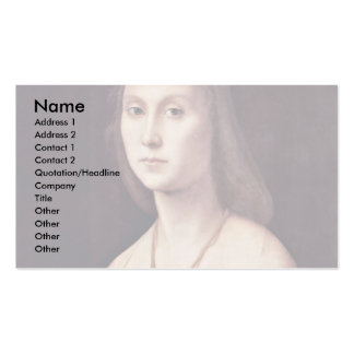 Portrait Of A Lady The Mute By Raffael Business Card