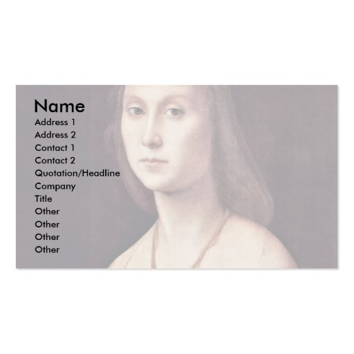 Portrait Of A Lady (The Mute) By Raffael Business Card