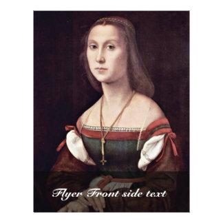 Portrait Of A Lady (The Mute) By Raffael 21.5 Cm X 28 Cm Flyer