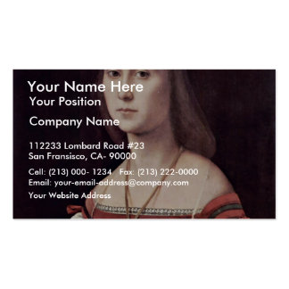 Portrait Of A Lady (The Mute) By Raffael Pack Of Standard Business Cards