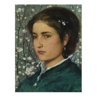 Portrait of a Lady Vintage Postcard