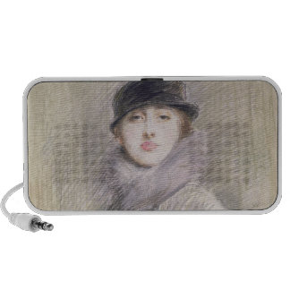 Portrait of a Lady with a Fur Collar and Muff Speaker