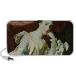 Portrait of a Lady with a Statuette of Cupid Travel Speaker