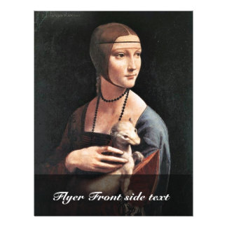 Portrait Of A Lady With An Ermine (Cecilia Gallera 21.5 Cm X 28 Cm Flyer