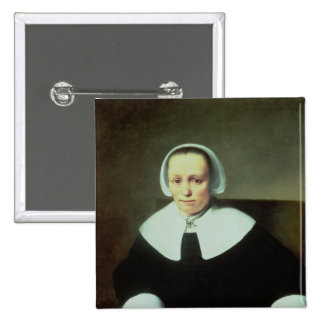 Portrait of a Lady with White Collar and Cuffs 15 Cm Square Badge