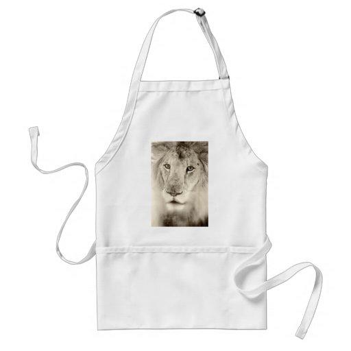 Portrait of a Lion Aprons