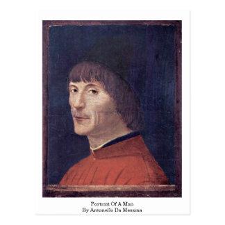 Portrait Of A Man By Antonello Da Messina Postcard