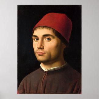 Portrait of a Man by Antonello da Messina Poster